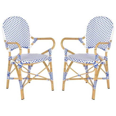 Groovy Biarritz 2Pc Wicker Patio Arm Chair Safavieh Gmtry Best Dining Table And Chair Ideas Images Gmtryco