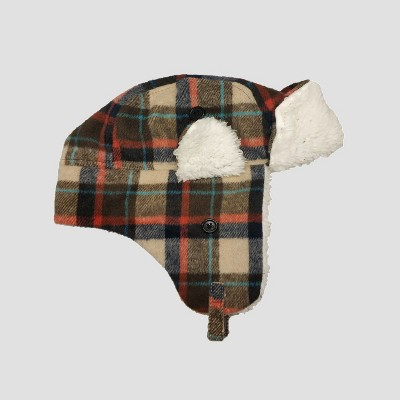 Baby Boys' Plaid Flannel Trapper Hat - Cat & Jack™ 12-24M