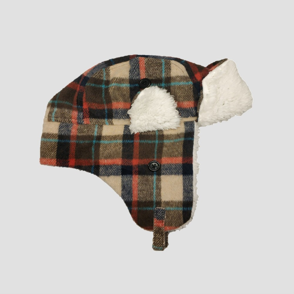 Baby Boys' Plaid Flannel Trapper Hat - Cat & Jack 12-24M, Multi-Colored