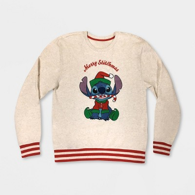 Women's Disney Stitch Holiday Sweater - Cream - Disney Store