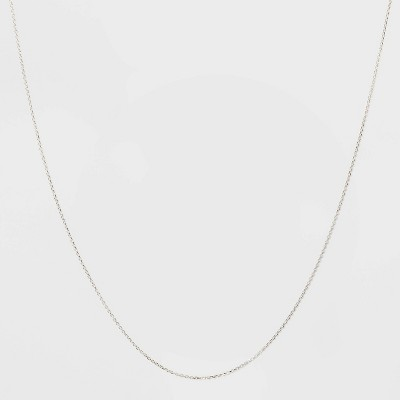 Sterling Silver Diamond Cut Link Chain Necklace - A New Day™ Silver