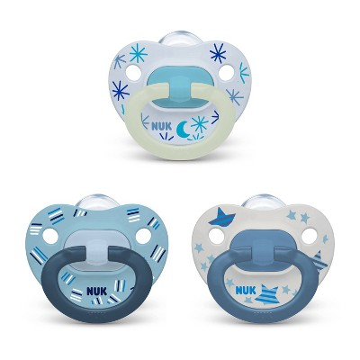 NUK Pacifier Assorted Size 6-18 months Value Pack - Boy - 3pk