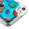 Valor Quicksand Glitter Earth Art Hard Plastic/Soft TPU Rubber Case Cover For Apple iPod Touch 5th Gen/6th Gen, Blue - image 2 of 4