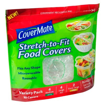 CoverMate Stretch to Fit Food Covers Variety Pack - 10ct