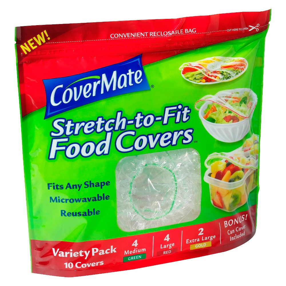 CoverMate Stretch to Fit Food Covers Variety Pack - 10ct, Multi-Colored