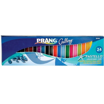 Prang Pastello Non-Toxic Square Colored Paper Chalk, 2-1/8 x 5/16 in, Assorted Color, set of 24
