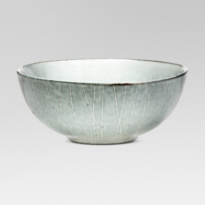 17oz Solene Stoneware Cereal Bowl Gray/White - Project 62™