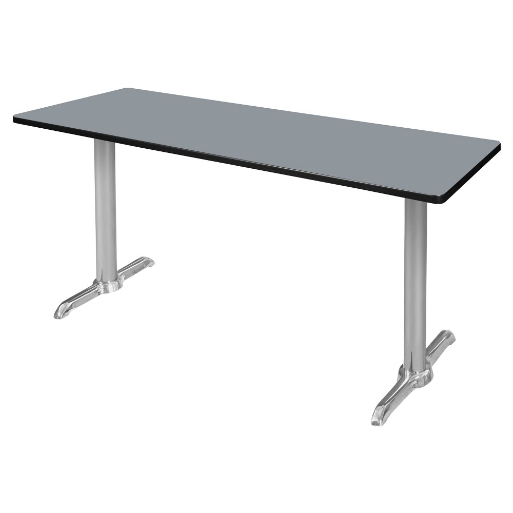 72 Via Training Table Gray/Chrome (Gray/Grey) - Regency