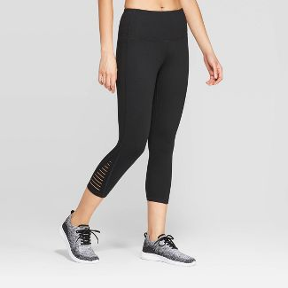 "Women's Everyday High-Waisted Capri Leggings 20"" - C9 Champion® Black L"