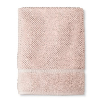 Bath Sheet Performance Texture Bath Towels And Washcloths Porcelain Pink - Threshold™