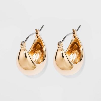 Zinc Hoop Earrings - A New Day™ Gold