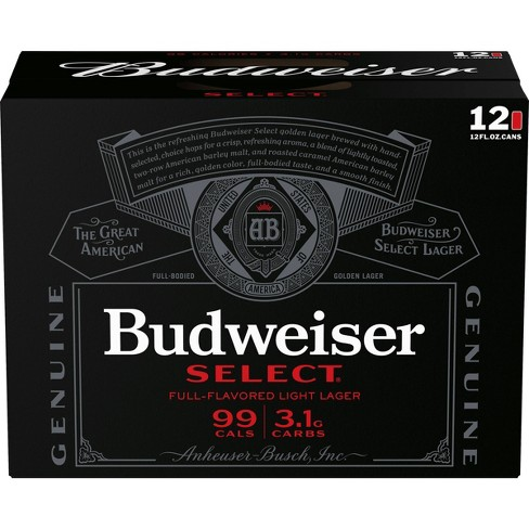 Budweiser Select Full-Flavored Light Lager Beer - 12pk/12 fl oz Cans - image 1 of 1