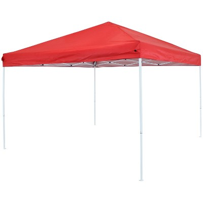 10'x10' Quick-Up Steel Frame Canopy with Carrying Bag Red - Sunnydaze