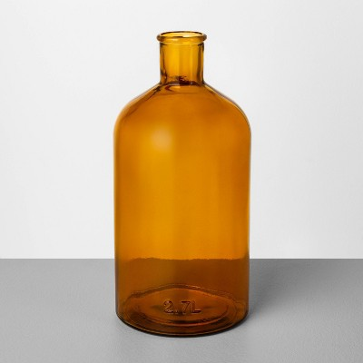 Large Amber Glass Vase - Hearth & Hand™ with Magnolia