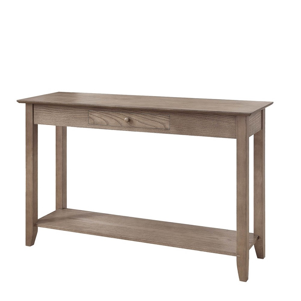 American Heritage Console Table with Drawer Driftwood Brown - Johar Furniture