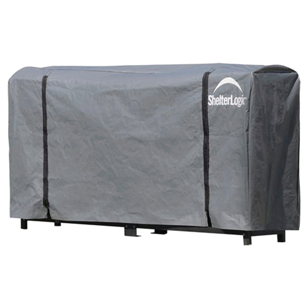 ShelterLogic 8 Foots Firewood Rack Cover - Gray