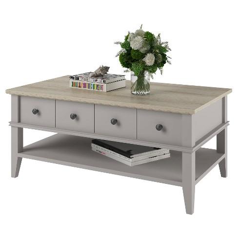 riverwalk coffee table light graylight brown room joy target - Light Colored Coffee Tables