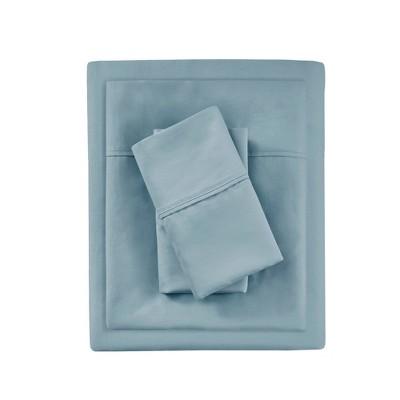 King 1000 Thread Count Solid Sheet Set Blue - Beautyrest