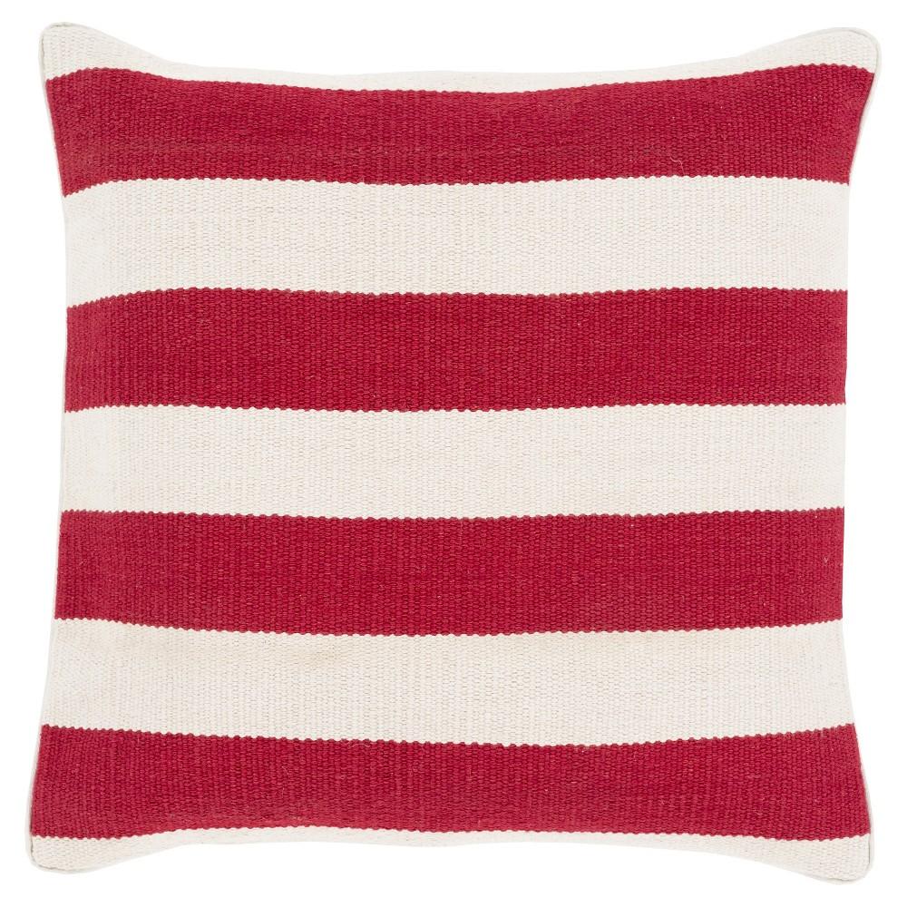 Poppy Horizontal Stripes Stripe Throw Pillow 20
