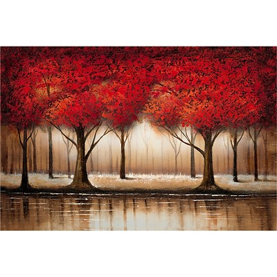 Parade of Red Trees' by Rio Ready to Hang Canvas Wall Art