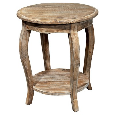 Round End Table Driftwood Brown - Alaterre Furniture®