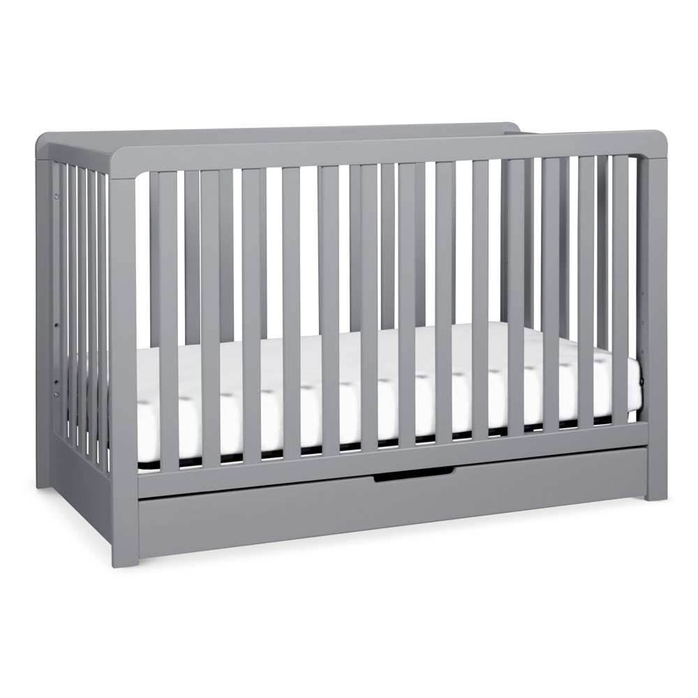 Image of Carter's by DaVinci Colby 4-in-1 Convertible Crib with Trundle Drawer - Gray