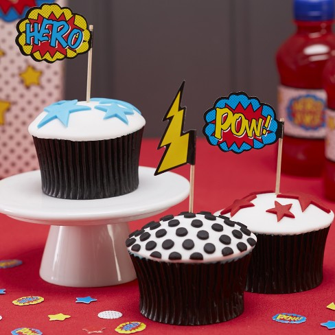 20ct Comic Superhero Cupcake Picks - image 1 of 3