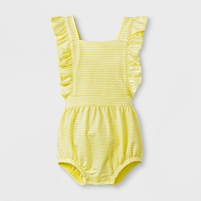Baby Girls' Romper - Cat & Jack™ Yellow 6-9M