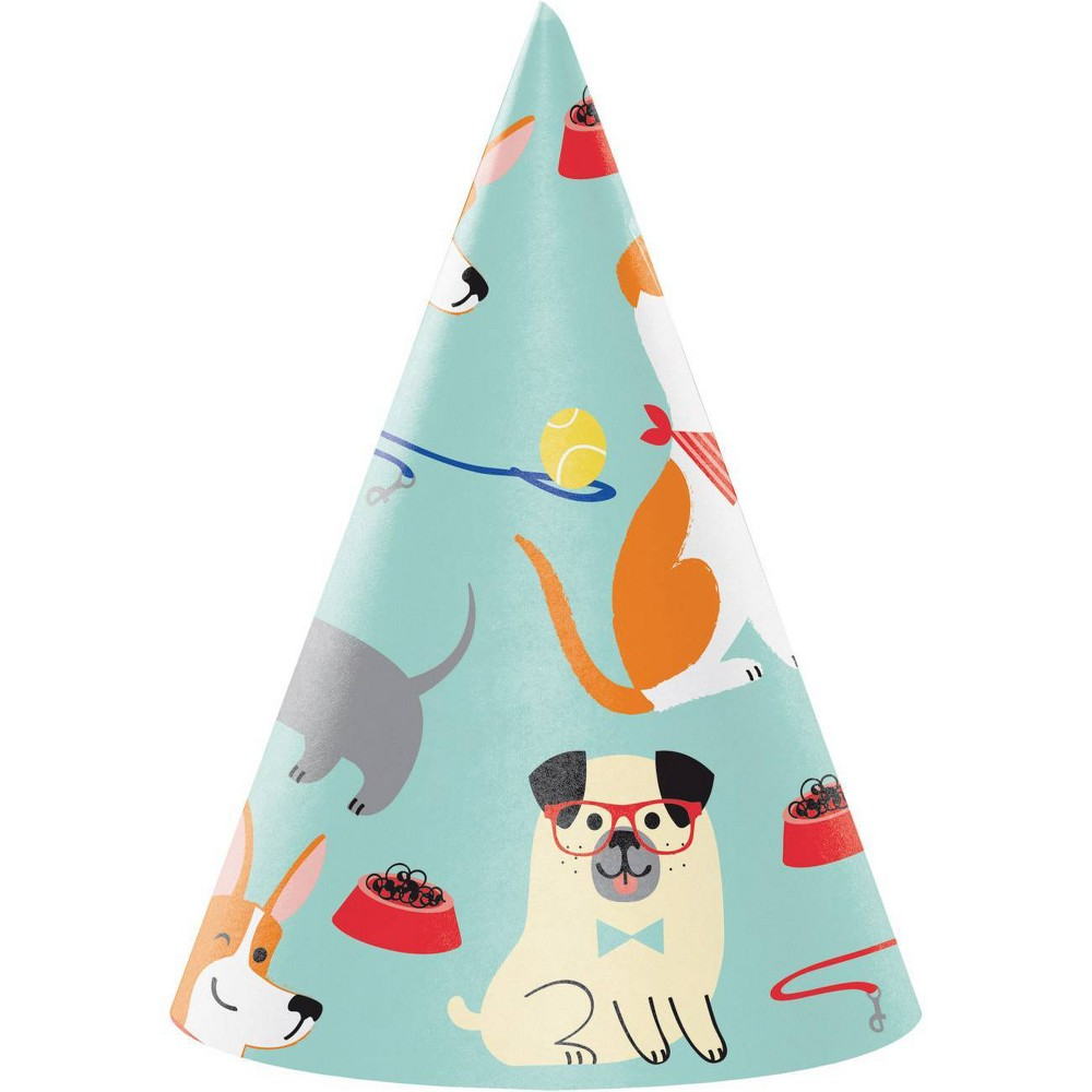 Image of 24ct Dog Party Hats, wearable party accessories