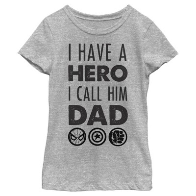 Girl's Marvel Father's Day Avengers Hero Dad T-Shirt