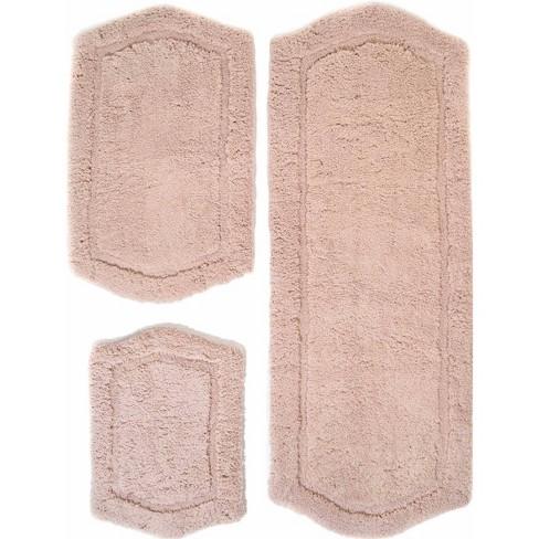 Paradise Memory Foam 3 Piece Bath Rug Set Taupe Chesapeake Merchandising Inc