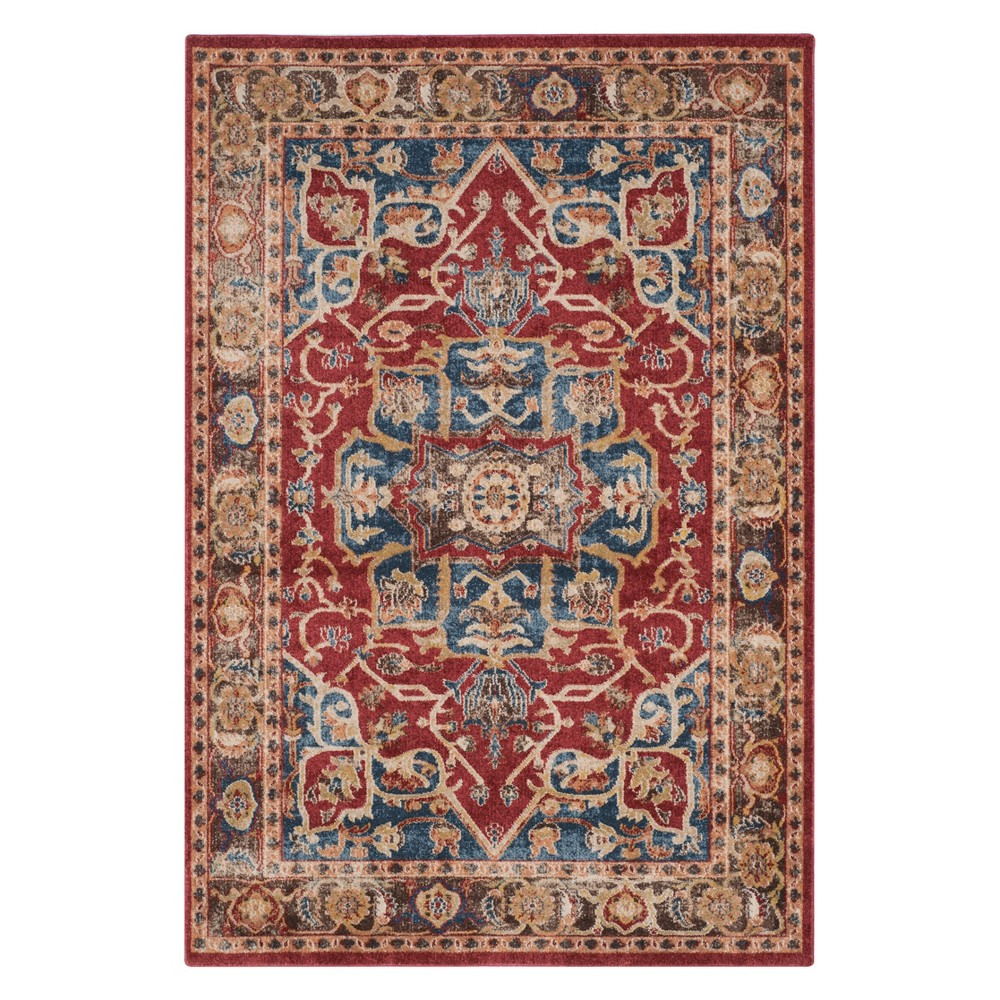 Medallion Area Rug Red/Royal