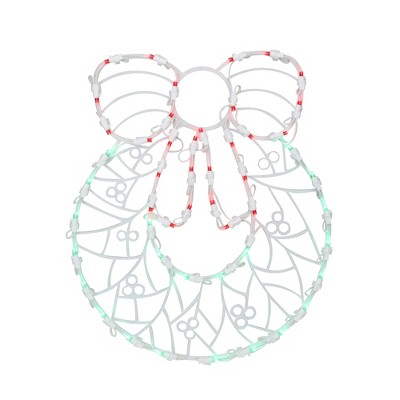 """Northlight 16"""" White and Clear Led Lighted Wreath Christmas Window Silhouette Decoration"""