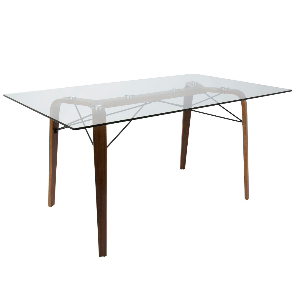 Lumisource Trilogy Mid Century Modern Dining Table Walnut (Brown)