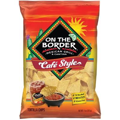 On The Border Café Style Tortilla Chips - 11oz