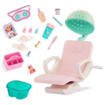 "Glitter Girls Salon Chair Spa & Styling Accessory Set for 14"" Dolls"