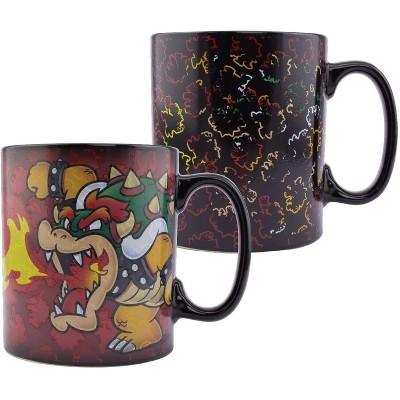 Paladone Products Ltd. Super Mario Bowser Oversized 18.5oz Heat Change Ceramic Mug