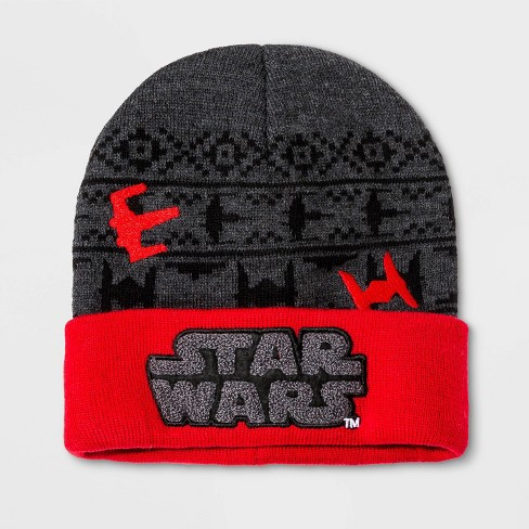 Boys' Star Wars Beanie - Red One Size - image 1 of 1
