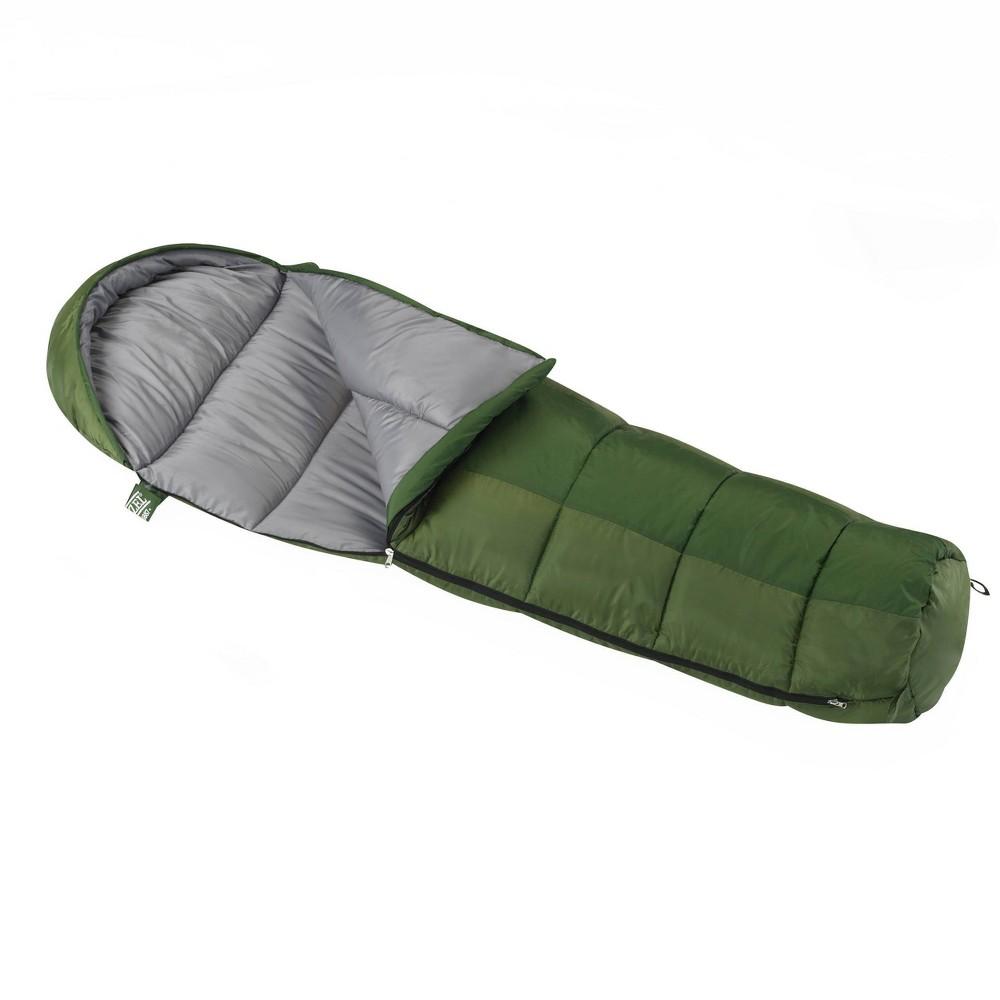 Wenzel Kids 39 Backyard 30 Degrees Fahrenheit Mummy Sleeping Bag Green