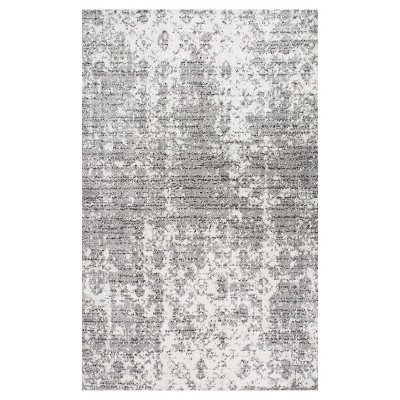 Sterling Gray Solid Loomed Area Rug - (5'x8')- nuLOOM