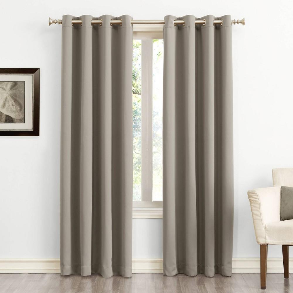 108 34 X54 34 Kenneth Energy Saving Blackout Grommet Top Curtain Panel Beige Sun Zero