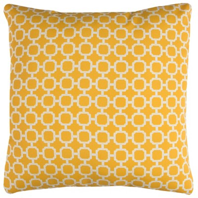 Rizzy Home Hockley Throw Pillow Yellow