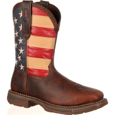 Men's Rebel by Durango Steel Toe Flag Western Flag Boot