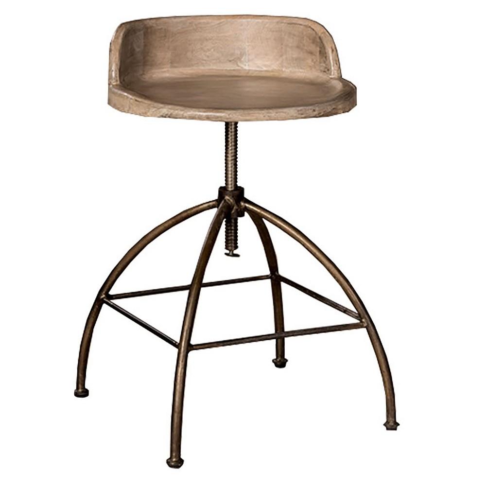 "Image of ""24.5"""" Bridgewater Adjustable Stool Tan/Zinc - Hillsdale Furniture, Tan/Grey"""