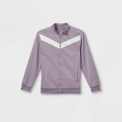 Boys' Cozy Knit Full Zip Sweatshirt- Cat & Jack™ Gray
