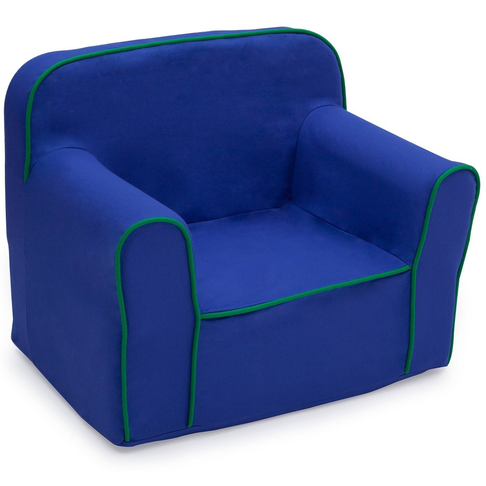 Image of Foam Snuggle Chair Blue/Green - Delta Children
