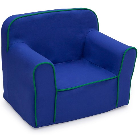Foam Snuggle Chair Blue/Green - Delta Children - image 1 of 4