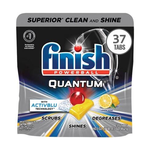 Finish Quantum Ultra Degreaser with Lemon Dishwasher Detergent Tablets - 37ct