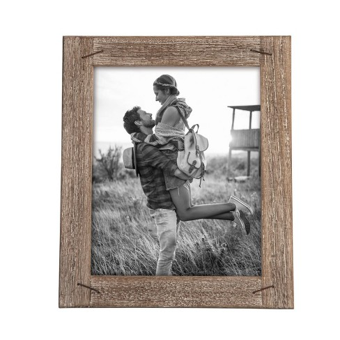8X10 Weathered Photo Frame With Nail Accents - Foreside Home and Garden - image 1 of 1