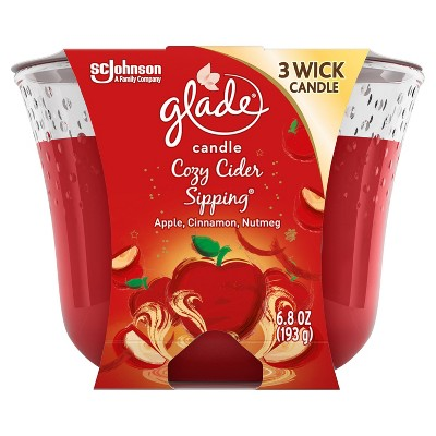 Glade Candle - Cozy Cider Sipping - 6.8oz